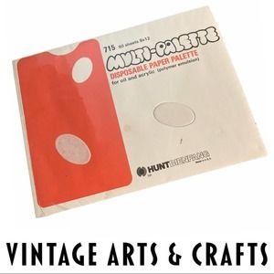 VTG Multi-Palette Disposable Painter Art Paper NIB